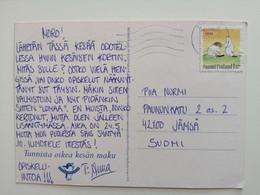 1994..FINLAND ...VINTAGE POSTCARD WITH STAMP. Friendship Stamps - Cartas