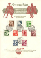 ALLEMAGNE / FEUILLE COMMEMORATIVE SOLIDARITE SERIE N° MICHEL 675 à 683 - Used Stamps