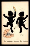 ILLUSTRATEURS - CHATS NOIRS - LA MUSIQUE ADOUCIT LES MOEURS - 1900-1949