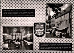 ! S/w Ansichtskarte Marburg A.d.Lahn, Hotel Alte Post, Gaststätte - Marburg