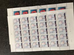 Belgie 1985 2161/62 RED CROSS Volledig Vel FULL SHEET Birds MNH PLAATNUMMER 22 - Full Sheets