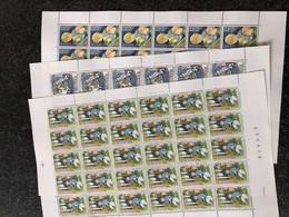 Belgie 1984 2151/53 CHILDREN HORSE GLOBE Volledig Vel FULL SHEET Birds MNH PLAATNUMMER 111 - Full Sheets