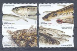 Año 2011 Nº 3592/5 Fauna. Pescados Migratorios - Unused Stamps
