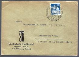 OFFENBURG - 1951 - POUR STRASBOURG - Cartas