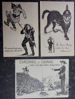 MILITARIA - Propaganda - Humour Postcard LOT 3 Cartes Postales - 3 Postcards !!!! WWI Militaire - Guerre - Soldats - Guerra 1914-18