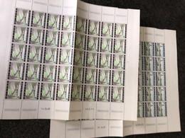 Belgie 1969 1514/15 KENNEDYTUNNEL ANTWERPEN LONCIN TRAFFIC Volledig Vel FULL SHEET MNH PLAATNUMMER II II - Full Sheets