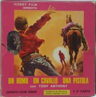 UN UOMO UN CAVALLO UNA PISTOLA RARO FILM COLORI SUPER 8 SONORO BOX 2 BOBINE: - Other