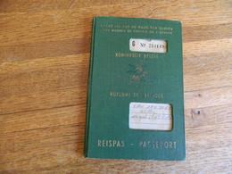 BELGIQUE :TRES BEAU PASSEPORT AVEC PHOTO DE 1961 EMIS A GAND POUR VAN DEN BERGHE WILLY -AVEC CACHET DE YOUGOSLAVIE - Unclassified