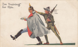5800) Illustrator WALL Signiert - I'm Training For This - SOLDAT - Soldaten Gewehr U.S. Army 1918 !! - Unclassified