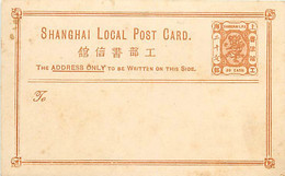 Chine. Poste Locale De Shanghai CP N° 3 (Higgins & Gage)  Xx - Covers & Documents