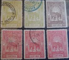 MAROC - Postes Locales -Mogador à Marrakech -Quelques Timbres Oblitérés Et Neufs (*) Sans Gomme Du 2ème Tirage Nuances.. - Locals & Carriers