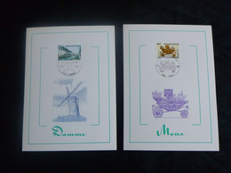 "BELG.1980 1976 & 1977 FDC's Mcards  : "" Tourisme MONS & DAMME "" - 1971-80"