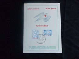 """BELG.1981 2004 & 2005 FDC Mcard ( Keerbergen  ) : """" Rode Kruis/Croix Rouge/Red Cross Belg. """" - 1981-90"""