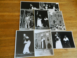 """VILLERS LA VILLE??:LOT DE 8 PHOTOS 13X18 DE LA PIECE DE SHAKESPEAR  """"HAMELET"""" JOUER DANS LES RUINES DE L'ABBAYE??? - Theatre"""