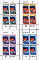 Kiribati - 2006 - 50th Anniversary Of First Europa CEPT Stamps - Set Of 4 Miniature Stamp Sheets - Kiribati (1979-...)
