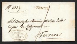 Italy - 1800's Wrapper Argento To Ferrara - ...-1850 Préphilatélie