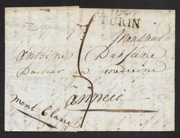 Italy - 1813 Entire Letter Turin / Torino To Annecy France - ...-1850 Préphilatélie