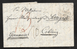 Italy - 1840 Entire Letter Roma To Coblenz Germany - 1. ...-1850 Prephilately