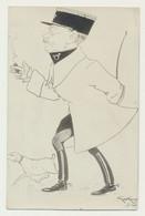 Carte Fantaisie Humour - Caricature De St Cyr L'école - Photographe H. NOARI - Illustrateur Signé - Patrióticos