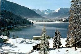 Blick über Den Davosersee Auf Davos Und Tinzenhorn (55) * 21. 3. 1968 - GR Grisons
