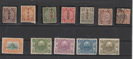 CHINA OLD STAMPS WITH DRAGONS  MINT AND USED  SOME WITH DEFECTS - Unclassified