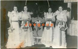 Photo Postcard Woung Women Dressed Alike Kermese Kermés Del Ateneo Rosario Santa Fe Argentina 1933 - Anonymous Persons