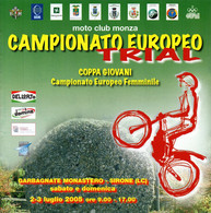 MOTORCYCLING - ITALIA GARBAGNATE MONASTERO / SIRONE (LC) 2005 - PROGRAMMA CAMPIONATO EUROPEO TRIAL - Motori