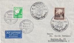 ALLEMAGNE 1938 PLI AERIEN DE NÜRNBERG - Storia Postale
