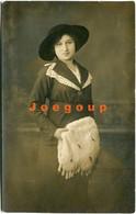 Photo Postcard Foto Castellani Portrait Young Woman With Hat Rosario Santa Fe Argentina - Anonymous Persons