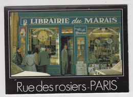 R450 - Judaisme - Judaica - PARIS - Rue Des Rosiers - Le Pletzel - Librairie Du Marais - Photo : Alain Chartier - Jodendom
