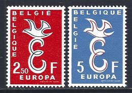 Cob 1064/5 Europa 1958  ** - Unused Stamps