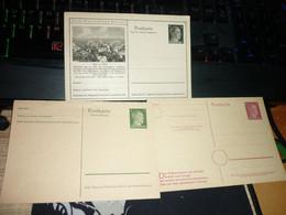 Timbre Lot Entier Postaux Allemagne Hitler Deutsches Reich Alsace Zabern  Lot De 3 Entiers - Storia Postale