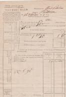 """1800 - Nom Révol. POSTE AUX LETTRES De """"PORT-MALO"""" (SAINT-MALO) Taxation De La Poste Pour PONTORSON -Cachet De Cire - Documenti Storici"""