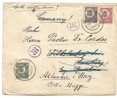 Tan013 / TANGANYIKA - Brit. Mandat (Giraffe) 1925 Nach Altenau, Deutschland - Tanganyika (...-1932)