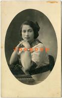 Photo Postcard Portrait Young Woman Girl 1915 De San Francisco Córdoba A Esperanza Santa Fe Argentina - Anonymous Persons