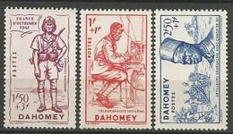 DAHOMEY Série N° 142 à 144 Complète NEUF** LUXE  SANS CHARNIERE / MNH - Unused Stamps