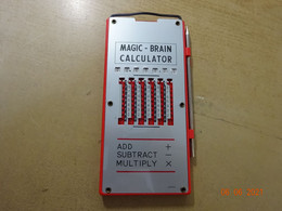 Magic Brain Calculator With Stylus - Vintage 1960's  Made In Japan - Other