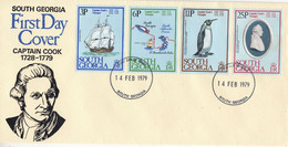 South Georgia 1979 Captain James Cook's Voyages 4v FDC (F8647) - South Georgia
