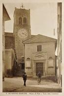 Cartolina - S. Severino Marche - Monte Di Pietà E Torre Della Cattedrale - 1935 - Macerata