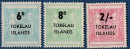 Tokelau Islands 1966, Fiscal Overprints On New Zealand 3 Values MH 2106.0647 - Tokelau