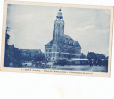 ROYE   CPA INSTALATION DU MARCHE - Roye