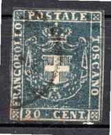 TOSCANE - (Gouvernement Provisoire) - 1860 - N° 20 - 20 C. Bleu - (Armoiries) - Toscana