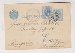 ROMANIA CAMPIN CAMPINA 1898 Postal Stationery To Croatia - Cartas