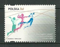 POLAND MNH ** 4176 CHAMPIONNAT EUROPEEN FEMININ DE VOLLEY BALL EN POLOGNE - Ongebruikt