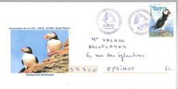 Lettre De 972 Saint-Pierre 12.05.2012 Cachet Temporaire Ligue Pour La Protection Des Oiseaux LPO - Matasellos Conmemorativos