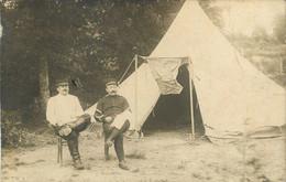 CARTE PHOTO MILITARIA - 63 PUY DE DOME VIVEROLS MILITARIA TENTE CAMPEMENT SOLDATS CAVALERIE ? 1908 - Other Municipalities