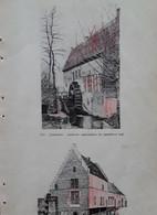 Grimbergen, Liermolen: Suizende Waterstralen En Wentelend Rad En Biesthoef - Historical Documents