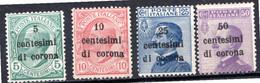 OCCUPATIONS ITALIENNES - (Dalmatie) - 1921-22 - N° 1 à 4 - (Timbres D'Italie De 1901-11) - Dalmatië