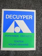 Sticker Autocollant Decuyper Poperinge - Stickers