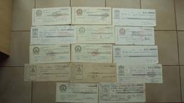 14 CAMBIALI RWPUBBLICA ITALIANA IN VARI TAGLI OLD BILLS - Bills Of Exchange